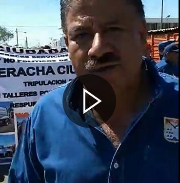 Manifestación y exigencia de reparación de unidades en Servicios Públicos Municipales