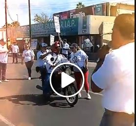 Desfile Civico Conmemorativo del Día del Trabajo, SUTSMH más fuertes que nunca, haciendo historia de la mano de los trabajadores.
